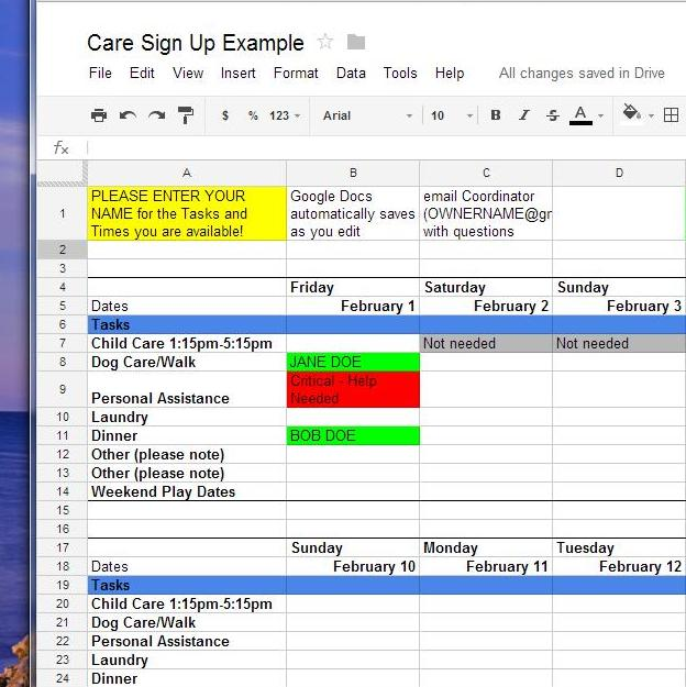 How To Use Google Docs For Online SignUp Sheets EpiscopalShare - Google docs sign up